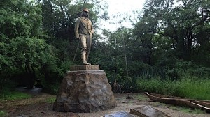 The statue commemorating Dr Livingstone in Zimbabwe.